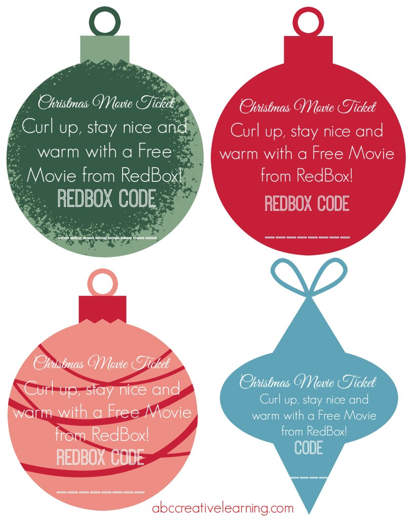 Holiday Ornament Tags for Redbox