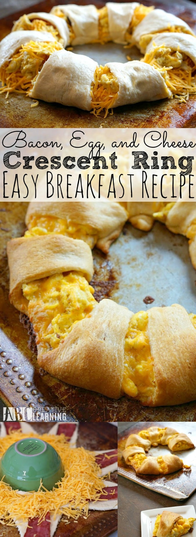 Bacon, Egg, and Cheese Crescent Ring