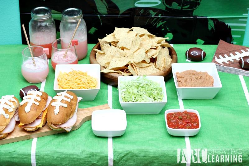 Family Friendly Themed Football Party Nacho Bar