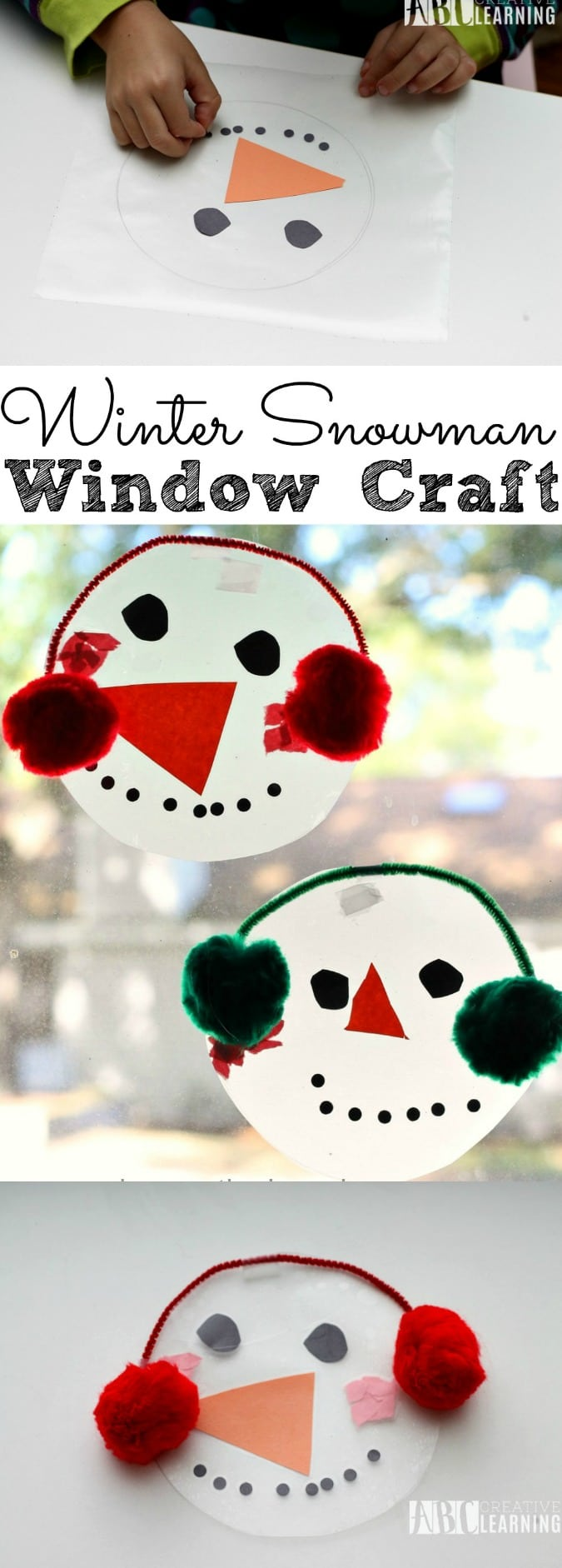 Winter Snowman Window Craft