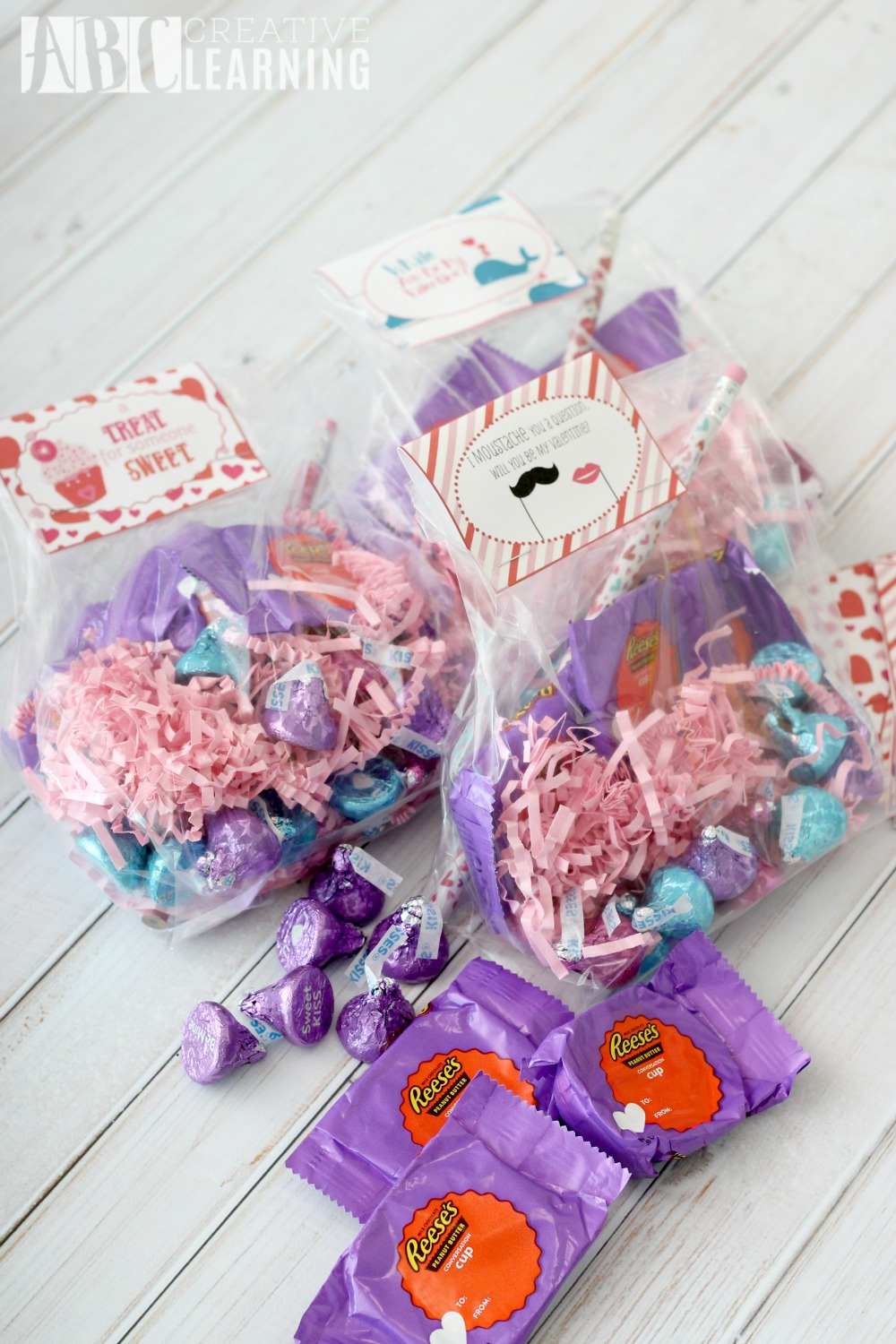 A Message of Love Free Valentine Day Printable Treat Bags