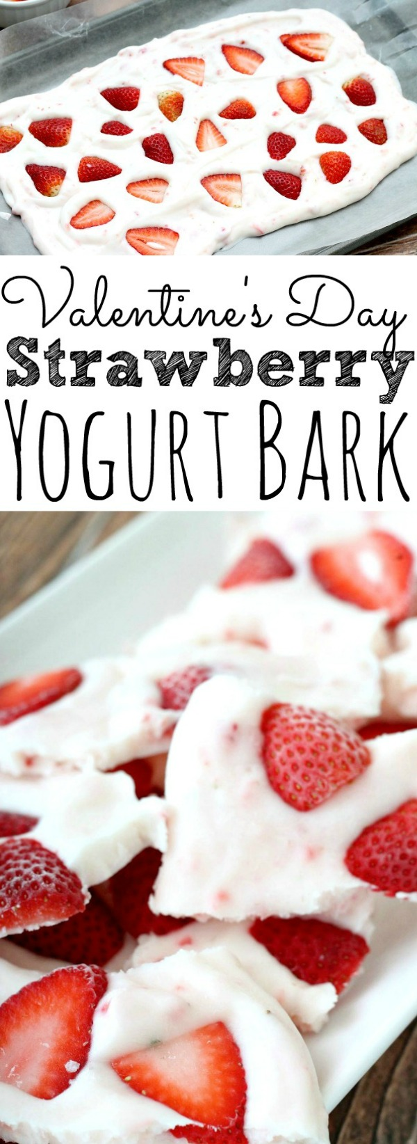 Valentine's Day Strawberry Yogurt Bark