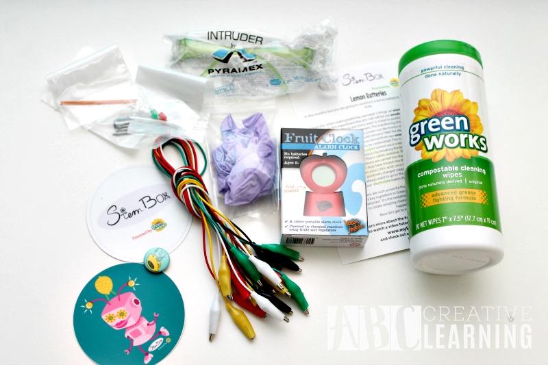 Lemon Battery StemBox For Girls Materials