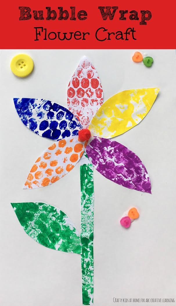 Bubble Wrap Flower Craft