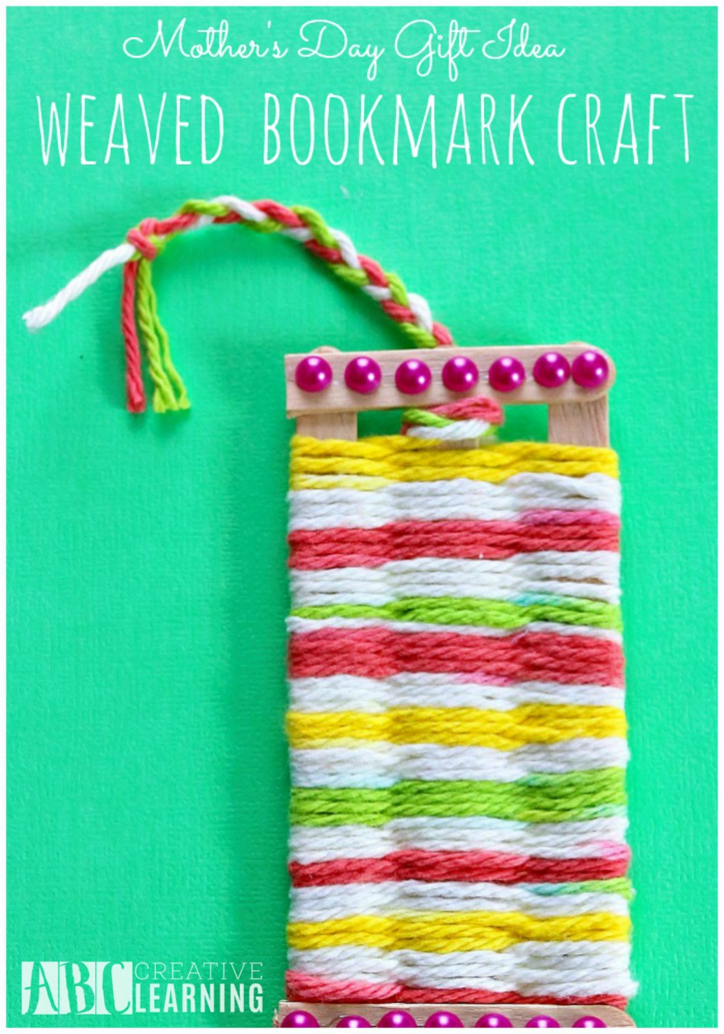 Mother's Day Gift Idea Weaved Bookmark Craft