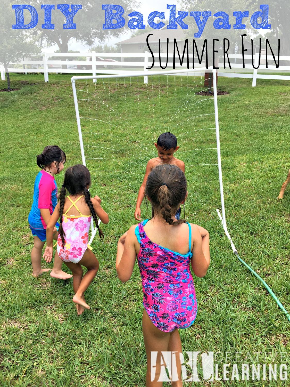 DIY Backyard Summer Fun Sprinkler Craft