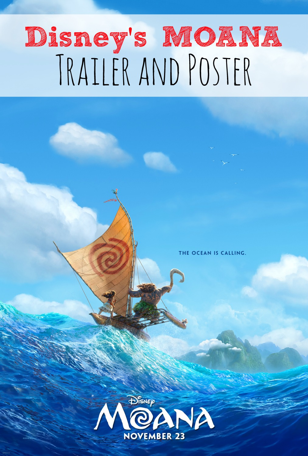 Disney's MOANA Trailer and Poster