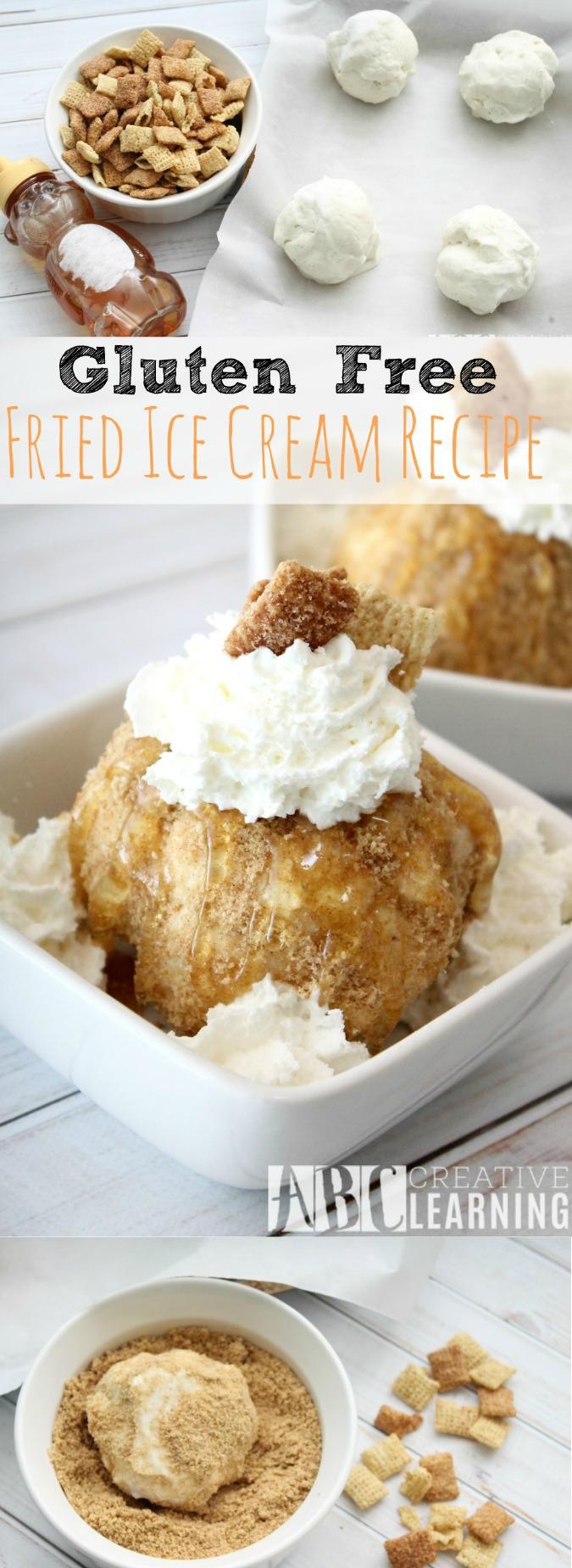 Gluten Free Fried Ice Cream Recipe - abccreativelearning.com
