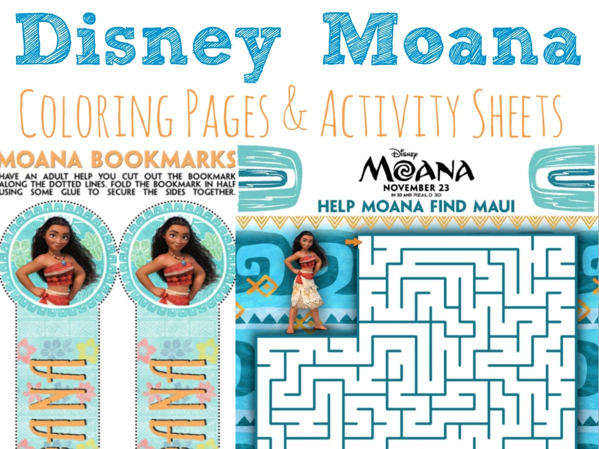 Moana Coloring Pages And Activity Sheets Moana
