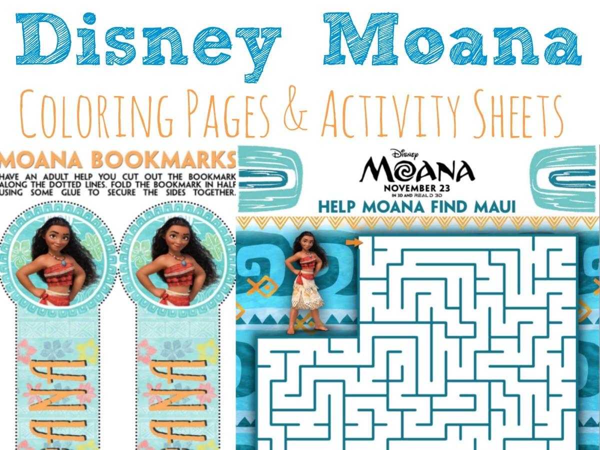 Moana Coloring Pages and Activity Sheets #Moana