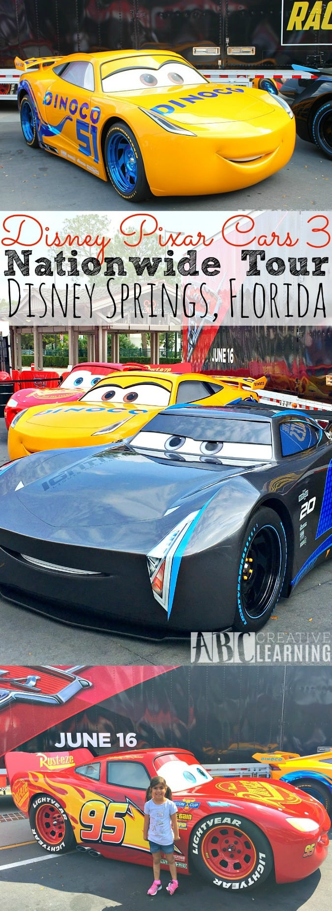 Disney Pixar Cars 3 NationWide Tour - Disney Springs - simplytodaylife.com