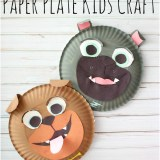 Rolly and Bingo Paper Plate Kids Craft Inspired by Puppy Dog Pals