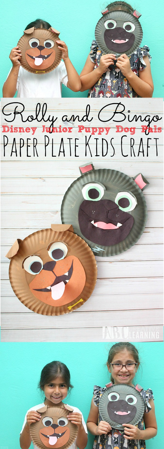 Rolly and Bingo Paper Plate Craft