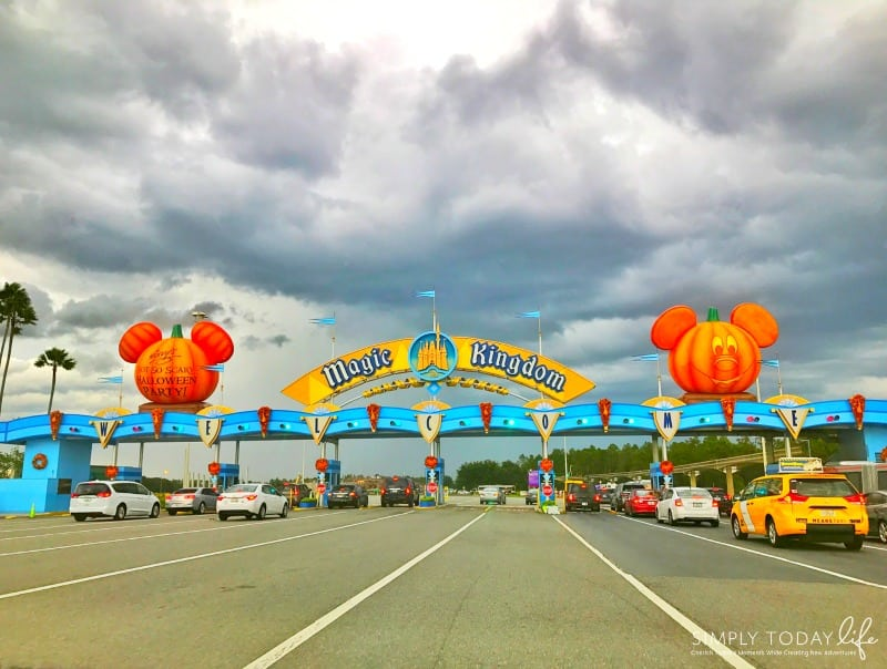 Allergy Friendly Guide To Mickey's Not So Scary Halloween Party Magic Kingdom Pumpkin Entrance