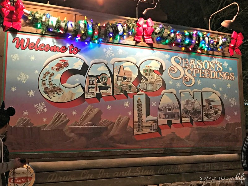 Experiencing Holiday Time at Disneyland and The Last Jedi on Star Tours - Cars Land