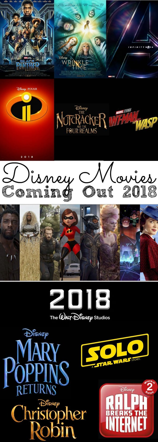 I have your entire list of Disney Movies Coming Out in 2018! Check out photos and trailers for each movie! - simplytodaylife.com