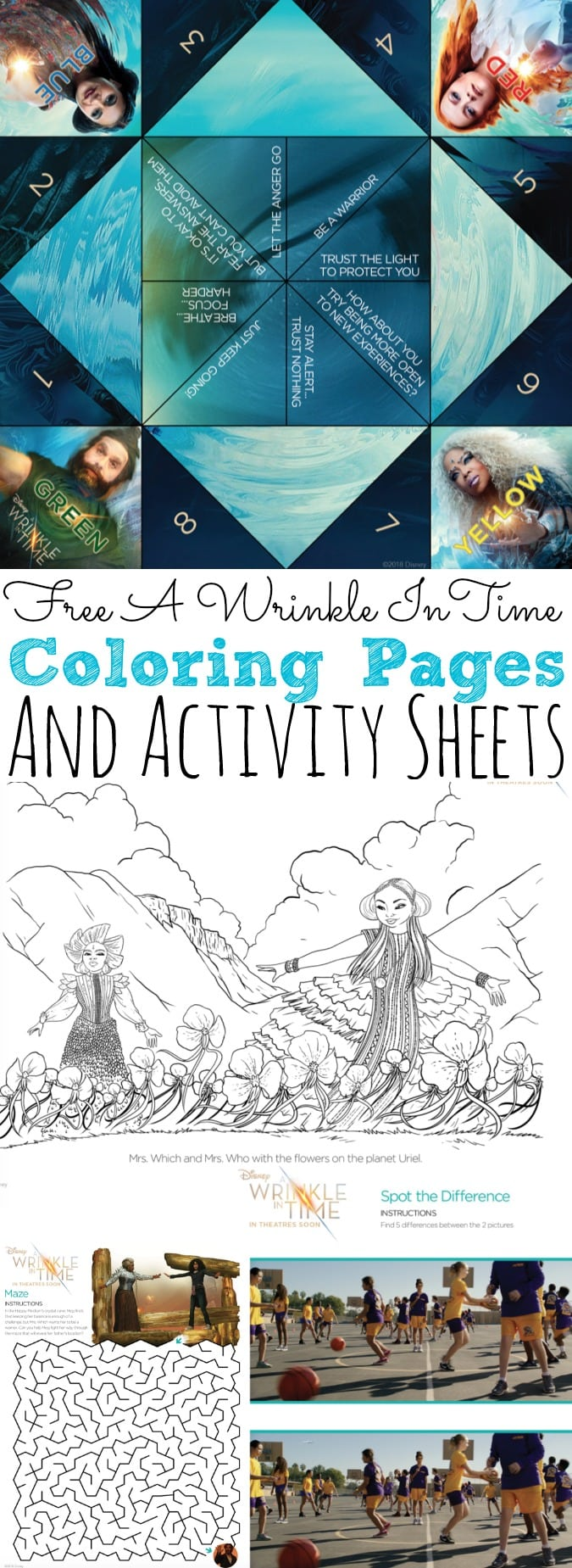 Free A Wrinkle In Time Coloring Pages and Activity Sheets - simplytodaylife.com