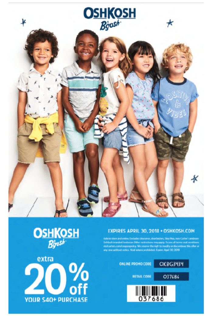 OshKosh B'Gosh Spring Coupon Code