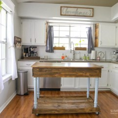 Farmhouse Style Kitchen Islands Knobs Diy Island From Desk Simply