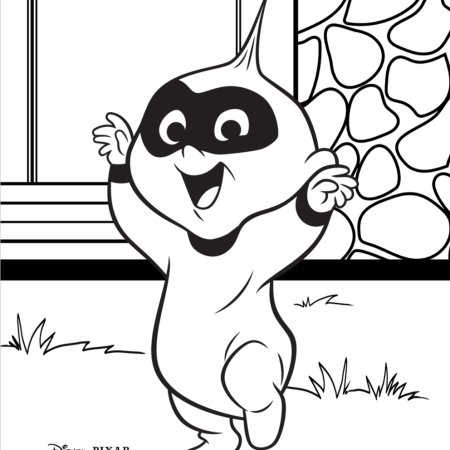Incredibles 2 -Baby Incredible Coloring Sheet