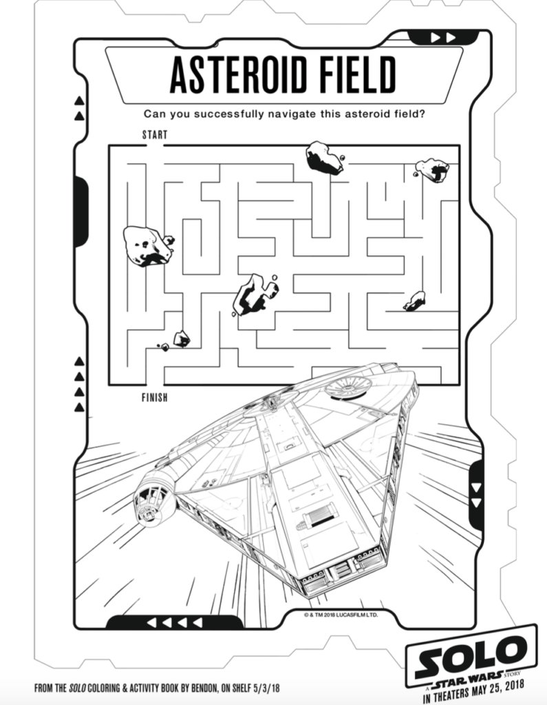 Free Solo A Star Wars Story Coloring Pages Activity Sheets