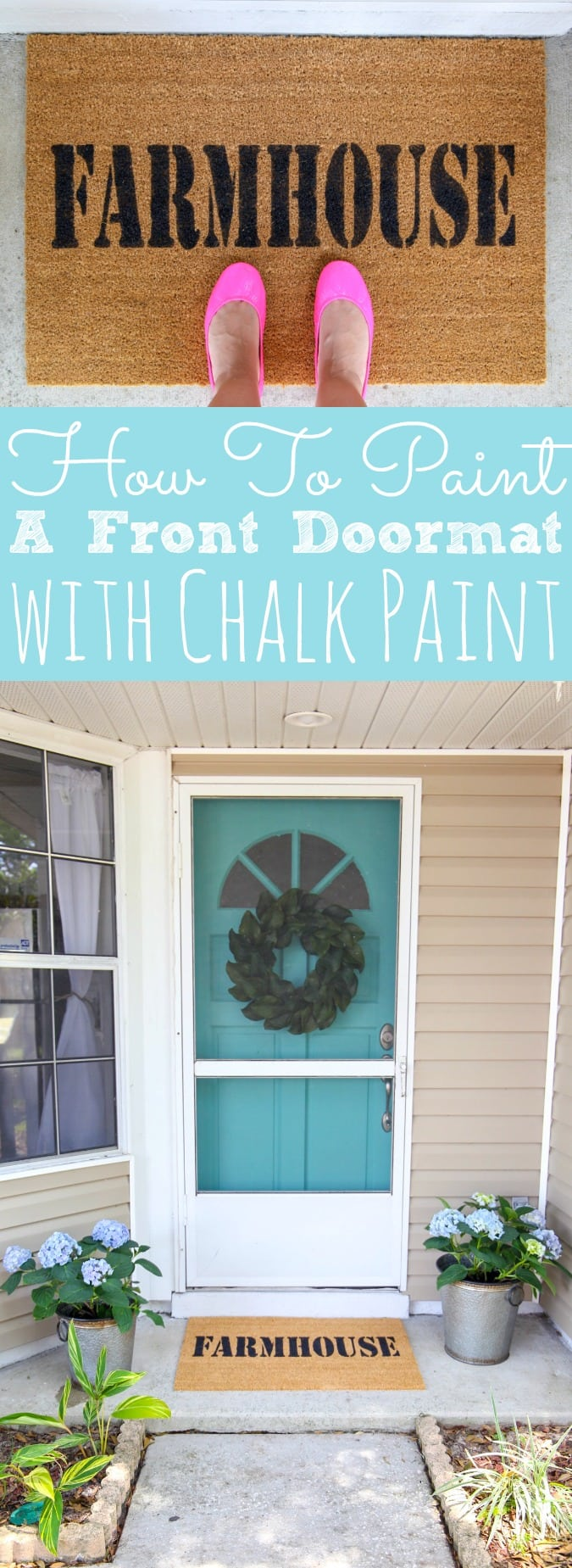 Custom Doormat with Chalk Paint