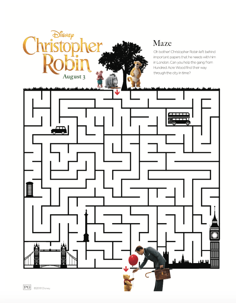 Maze Activity Sheets Christopher Robin