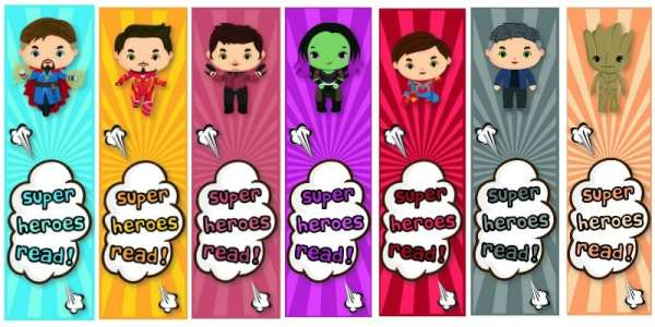 Avengers: Infinity War Free Printable Bookmarks for Kids