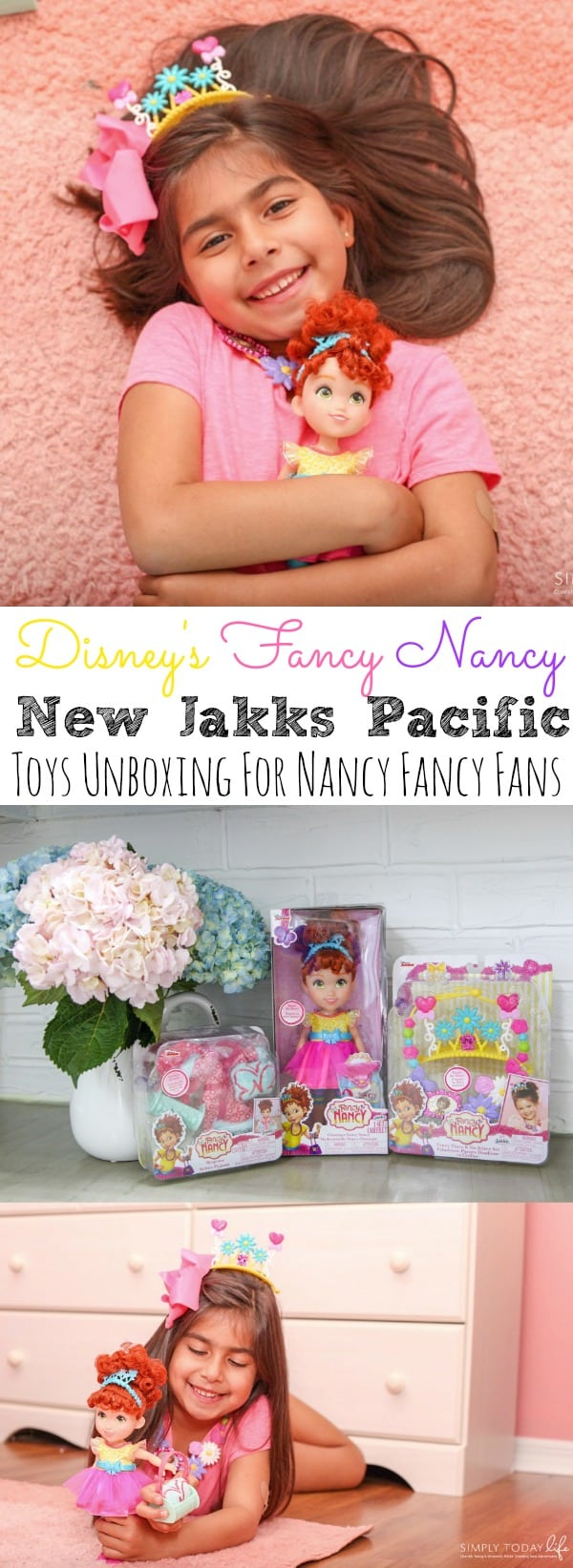 Is your child a fan of the new Disney Junior Fancy Nancy? Then you need to check out this Disney's Fancy Nancy New Jakks Pacific Toys Unboxing! It's every little girl pink and Fantastique dream! - simplytodaylife.com #FancyNancy #JakksFancyNancy #DisneyToys #FancyNancyToys