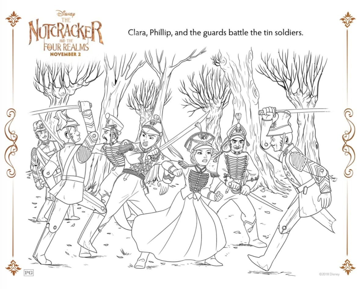 Disney's The Nutcracker and the Four Realms Coloring Sheets