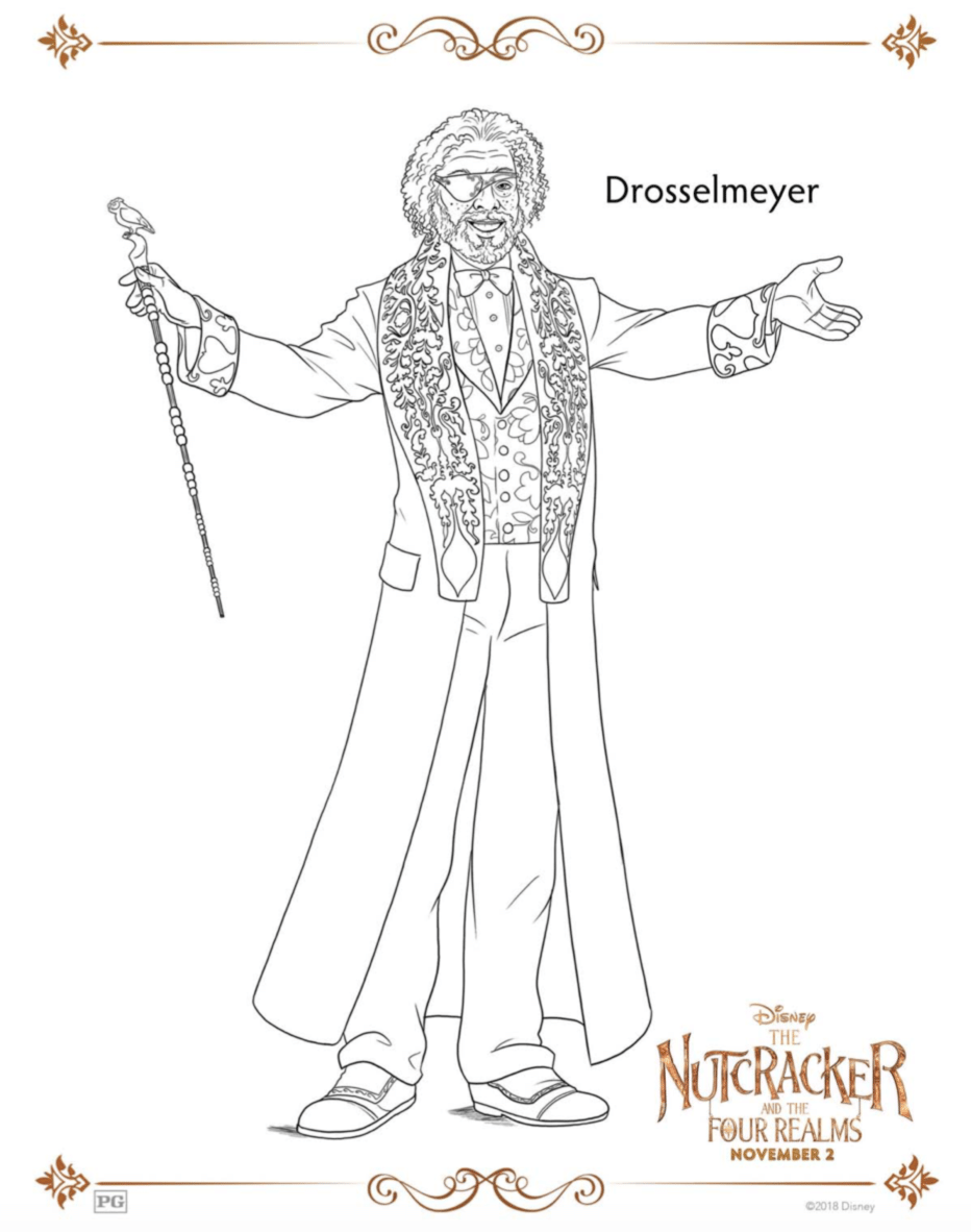 Drosselmeyere The Nutcracker Coloring Pages