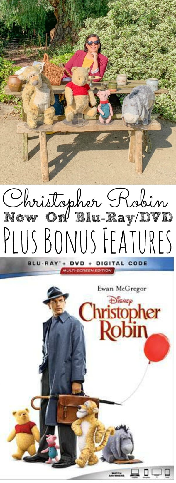 Christopher Robin On Blu-ray and Bonus Features - simplytodaylife.com