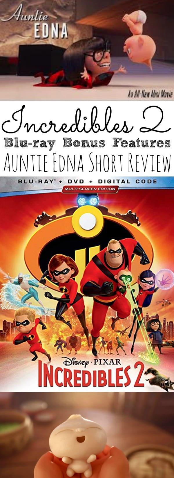 Incredibles 2 BluRay Bonus Features