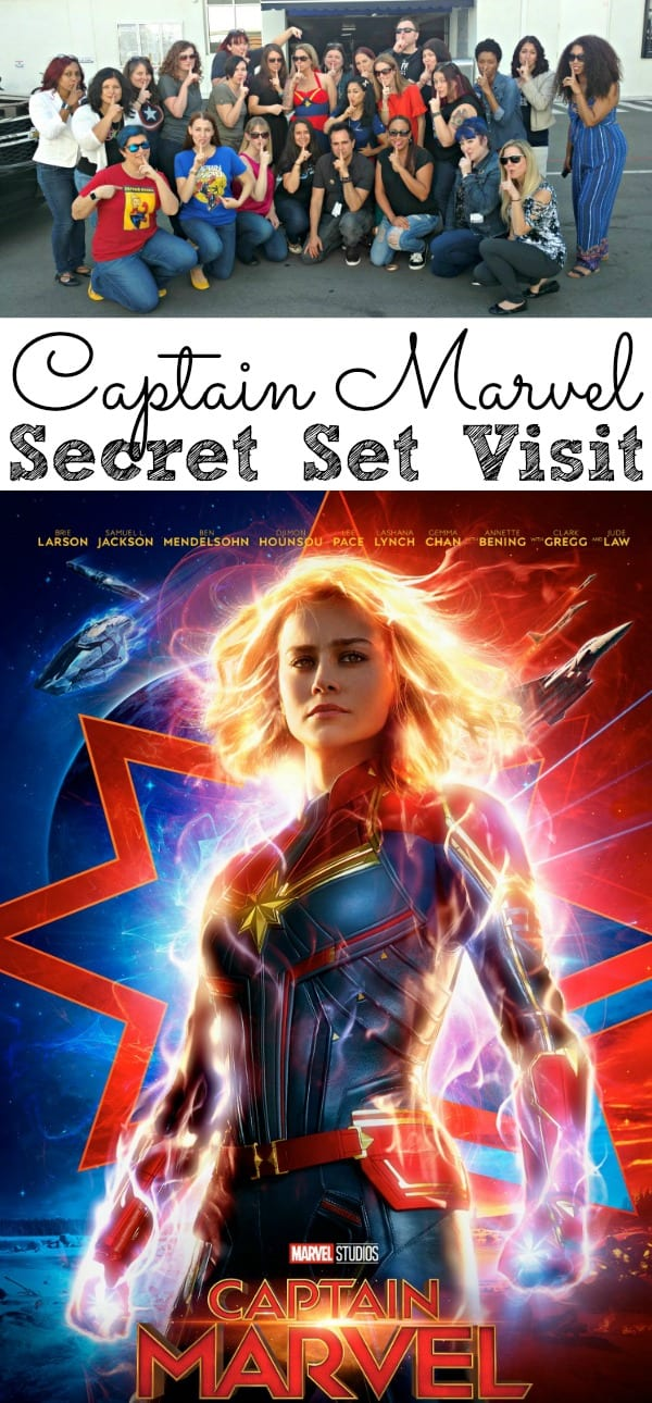 Captain Marvel Secret Set Visit