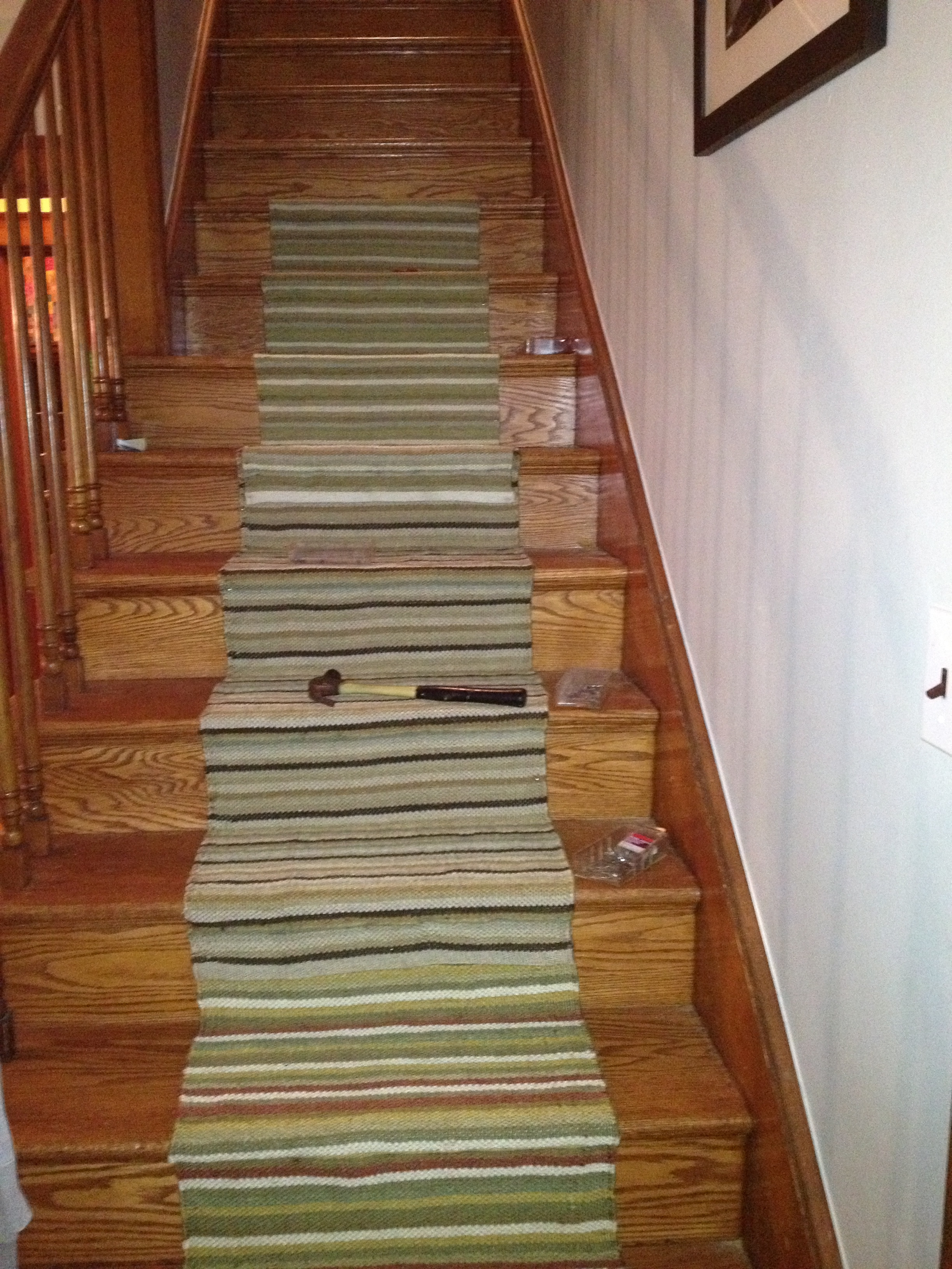 How To Install A Stair Runner  Simply Turquoise