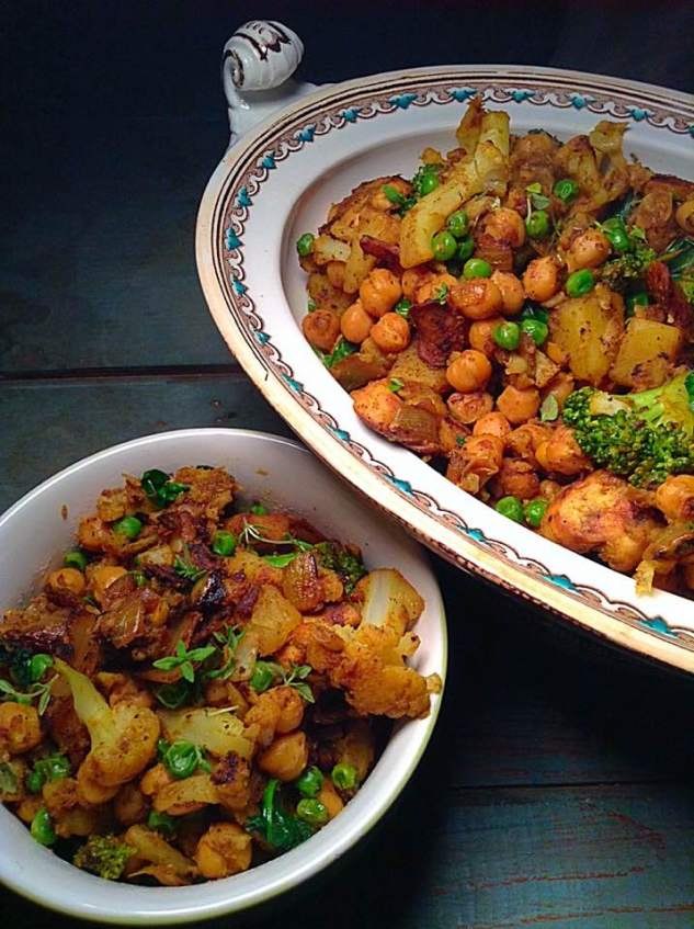 Curried chickpea and veggies