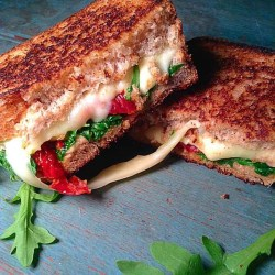 Sundried tomato and arugula grilled cheese