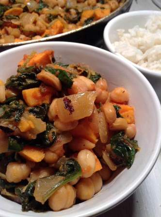 Ifisashi with chickpea