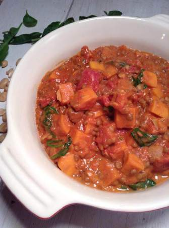 Peanut butter and sweet potato stew from Suddan