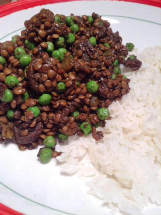 Indian masala lentils with peas