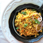 Tawa Pulav is a famous street food from Mumbai, India. It is made withleft over pav bhaji and rice. A complete meal for sure. #pavbhaji #rice #tawapulao #tavapulao #pilaf #vegetablepulao
