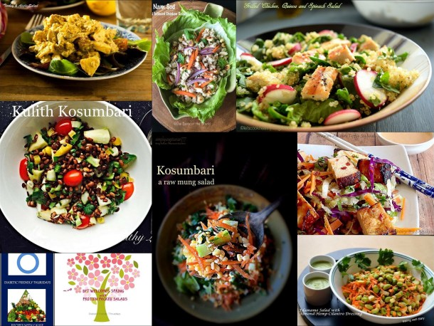 Kosumbari, a raw mung salad - Diabetes Friendly Thursdays