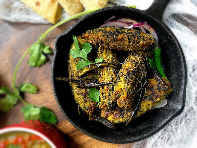 Punjabi Bharwaan Karela with Raw Mango