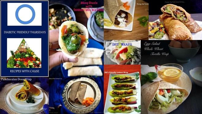 Mung Cheela with Tandoori Mix Veg Filling - Diabetes Friendly Thursdays