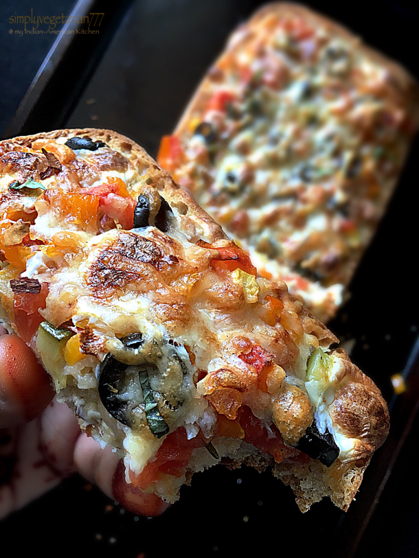 Cheesy Vegetable Grilled Flatbread