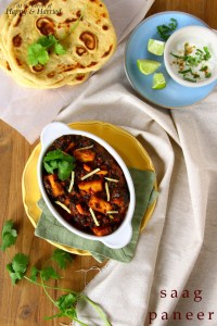 Saag Paneer with Instant Naan by Anjana