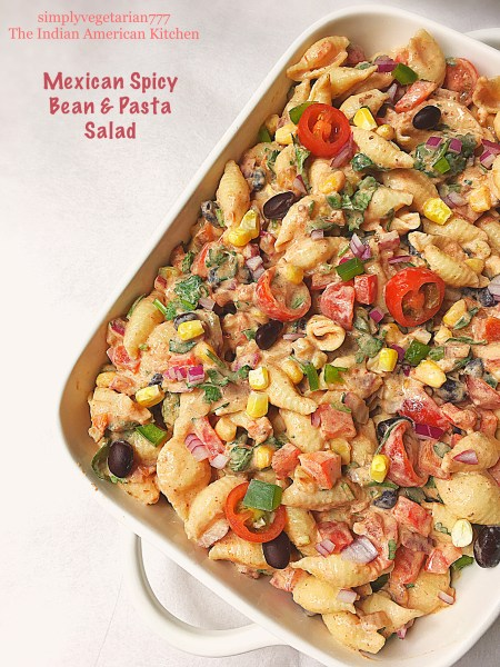 Mexican Spicy Bean & Pasta Salad
