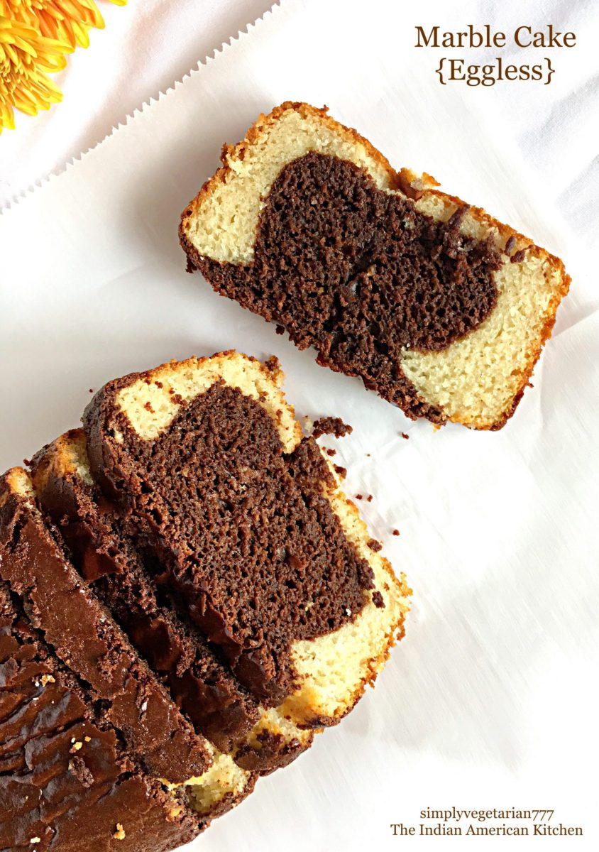 The Best Eggless Marble Cake Recipe