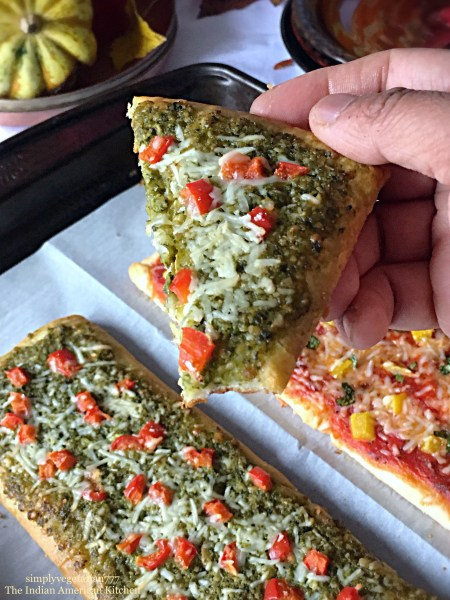 Pesto Marinara Crescent FlatBreads