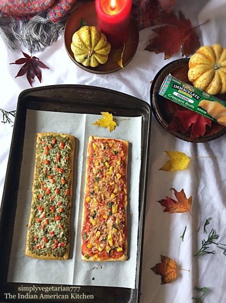 Pesto Marinara Crescent FlatBreads {Immaculate Baking Co.}